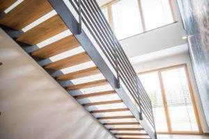 Treppe Holz Alu